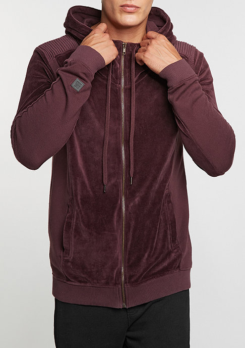 Black Kaviar Hooded-Zipper Sweat Keaton Burgundy