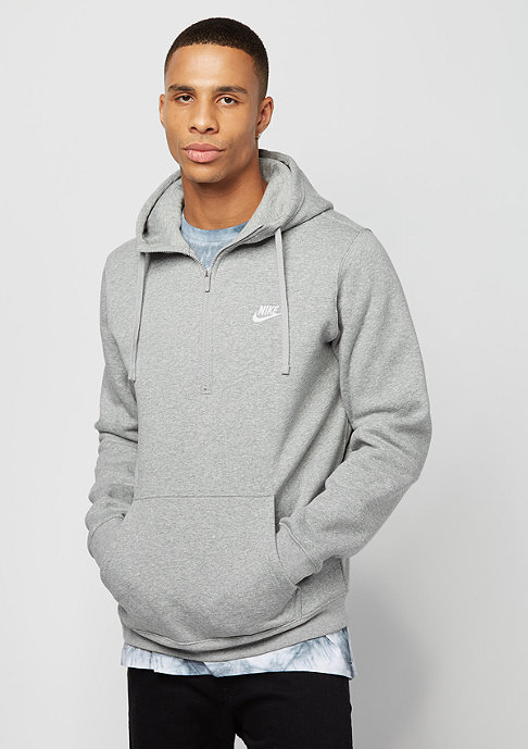 NIKE HZ FLC Club dark grey heather/dark grey heather/white