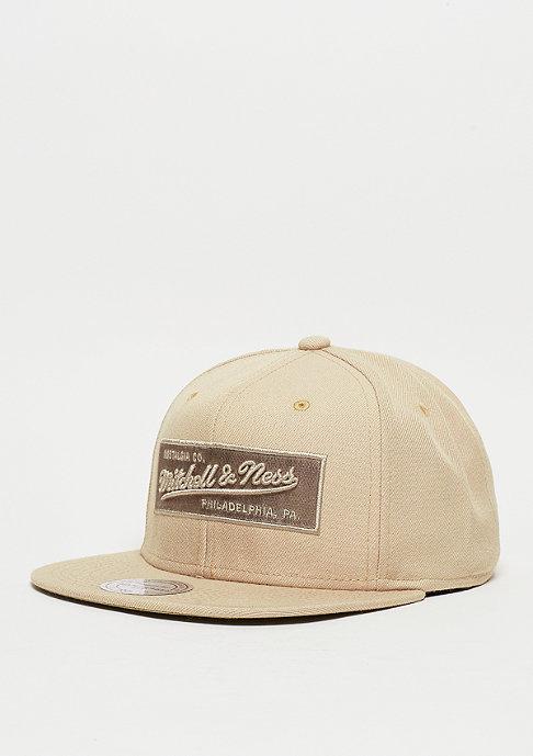 Mitchell & Ness Snapback-Cap Box Logo sand