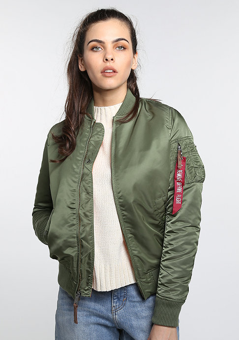 Alpha Industries Übergangsjacke MA-1 VF s. green