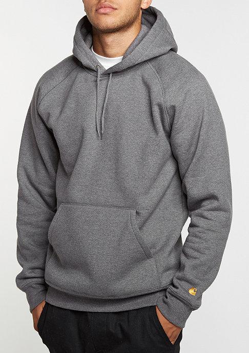 Carhartt WIP Hooded-Sweatshirt Chase dark grey heather