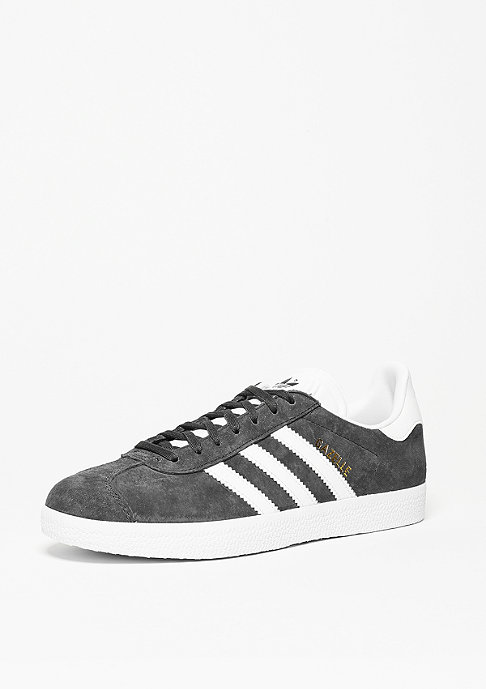 adidas Gazelle solid grey/white/gold metal
