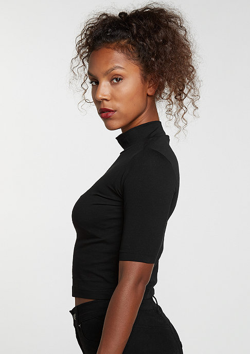 Urban Classics T-Shirt Cropped Turtleneck black