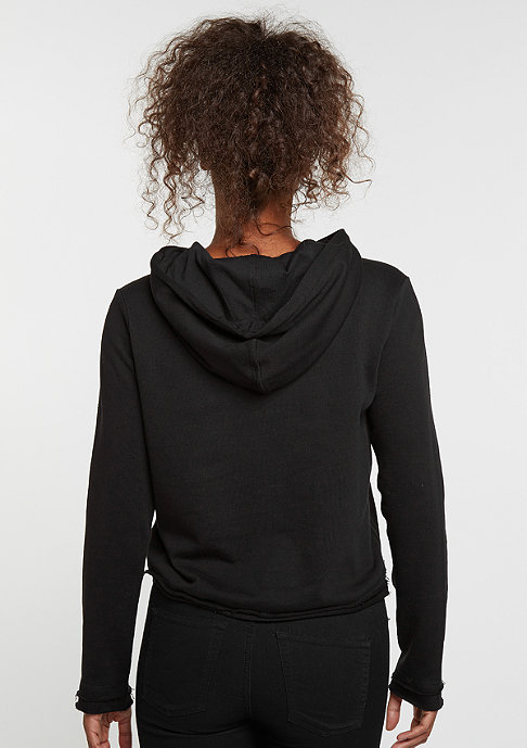 Urban Classics Hooded-Sweatshirt Cropped Terry black