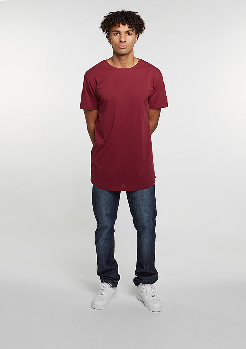 Urban Classics T-Shirt Shaped Long Tee burgundy