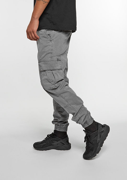 Urban Classics Trainingshose Washed Cargo Twill grey