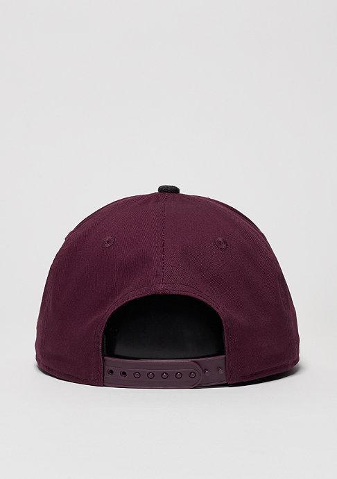 New Era Snapback-Cap Contrast Heather Patch maroon/black