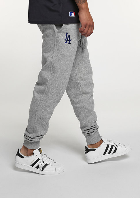 New Era Trainingshose Track MLB Los Angeles Dodgers light grey heather