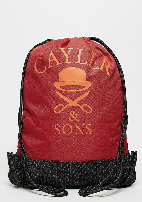 Cayler & Sons Turnbeutel WL Gymbag Dabbin' Crew black/red/mc