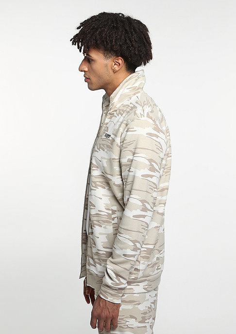 SNIPES D. Camo Trackjacket beige/lt. brown/grey