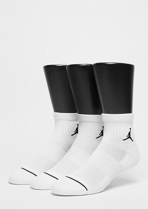 JORDAN Paire de 3 unisexe Jumpman High-Intensity Quarter white/white