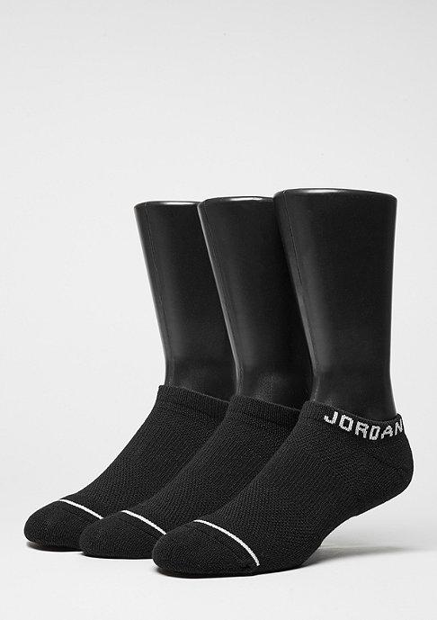 JORDAN Sportsocke No-Show 3PPK black/black/black