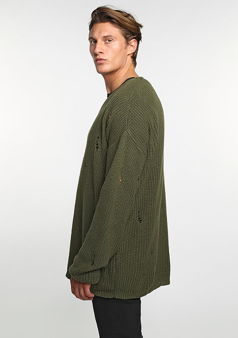 Future Past Sweatshirt Knit Crew olive