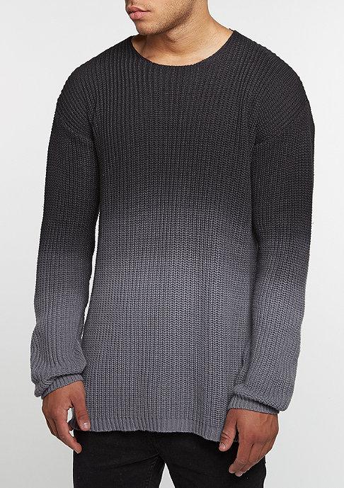 Future Past Sweatshirt Washed Knit Crew charcoal