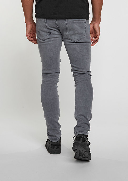 Urban Classics Jeans-Hose Slim Fit Biker grey