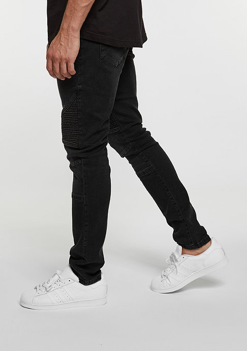 Urban Classics Slim Fit Biker black washed
