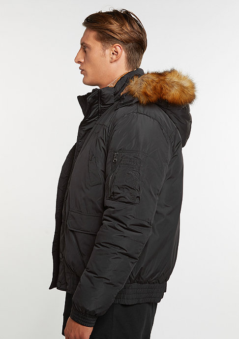 Urban Classics Winterjacke Hooded Heavy Bomber Jacket black