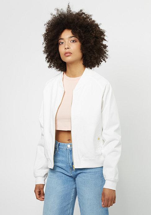 Damen Übergangsjacke Cotton Blouse white weiß |
