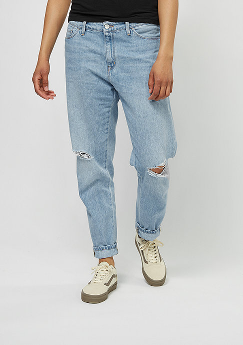 Carhartt WIP Domino Pant blue fight prime bleached