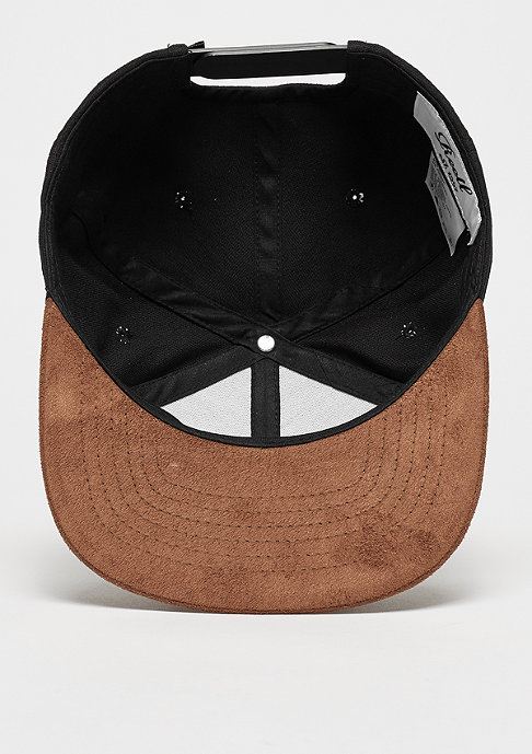 Reell Snapback-Cap Suede 6-Panel black