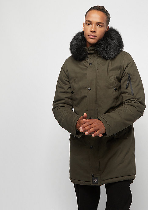 Sixth June Übergangsjacke Parka Fur khaki/black