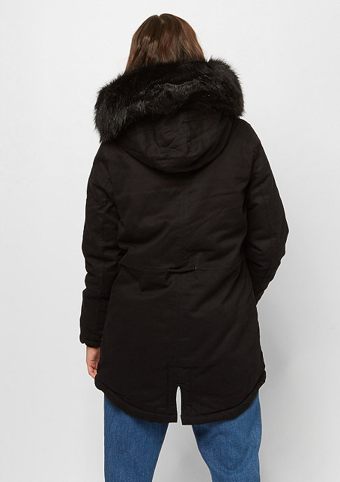 Sixth June Übergangsjacke Bomber Fake Fur black/black
