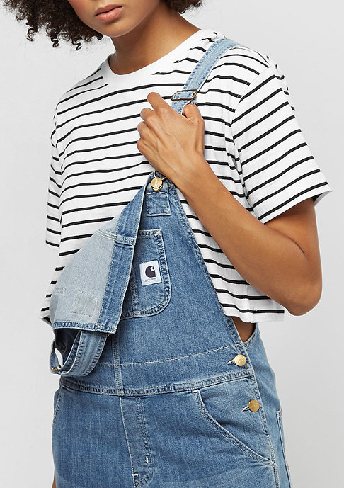 Urban Classics Short Striped Oversized white/black