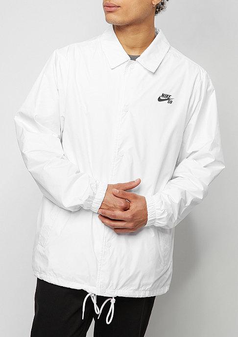 NIKE SB Übergangsjacke SHLD Coach white/anthracite