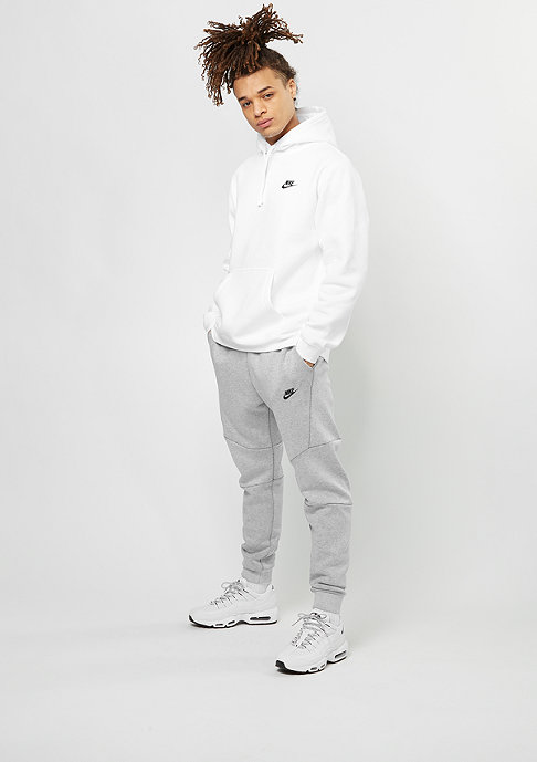 NIKE Sportswear Hoodie white/white/black