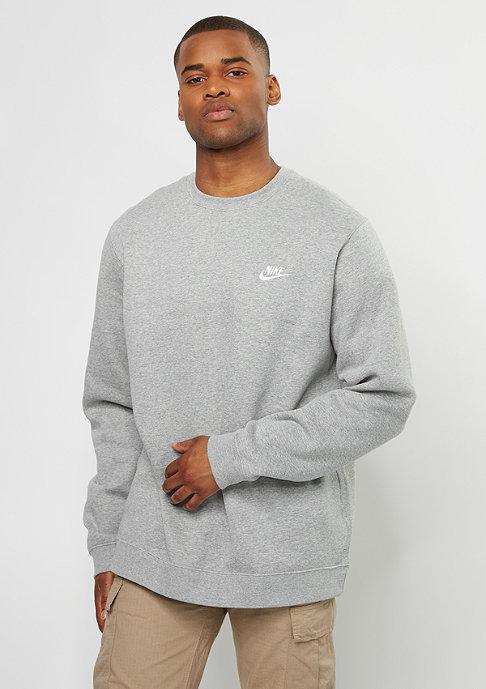 NIKE Sweatshirt FLC Club dark grey heather/white