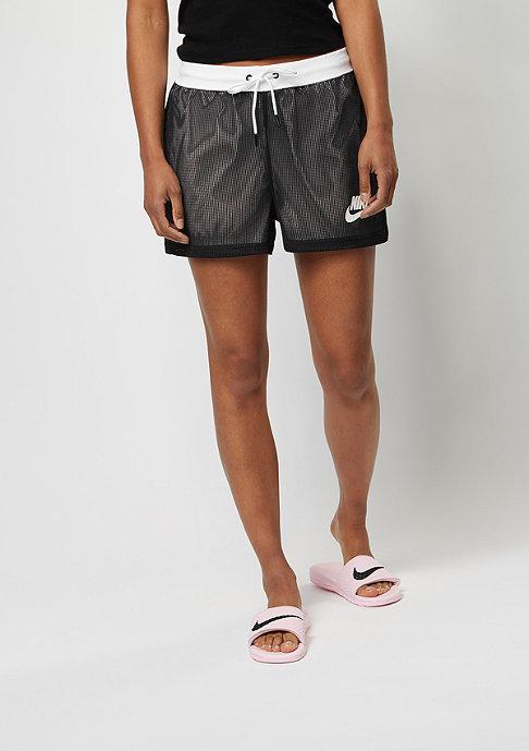 NIKE Sport-Shorts Mesh black/white/white