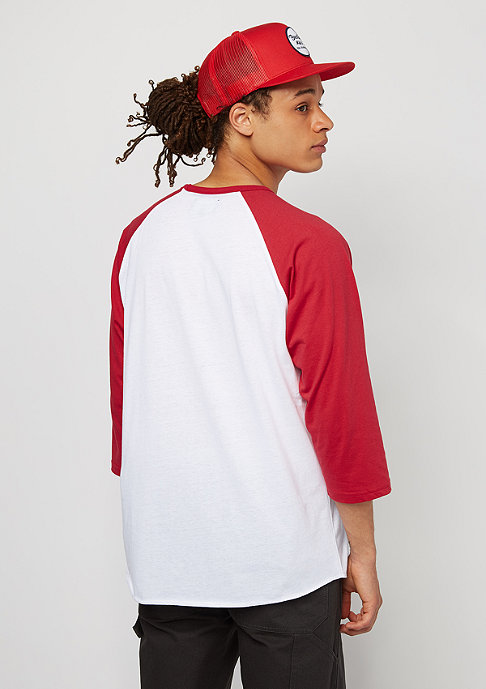 Brixton Oakland 3/4 white/red