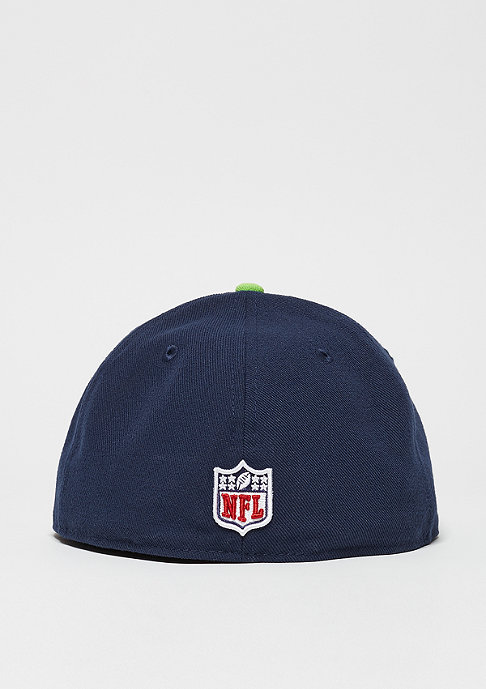 New Era Fitted-Cap 59Fifty On Field NFL Seattle Seahawks navy