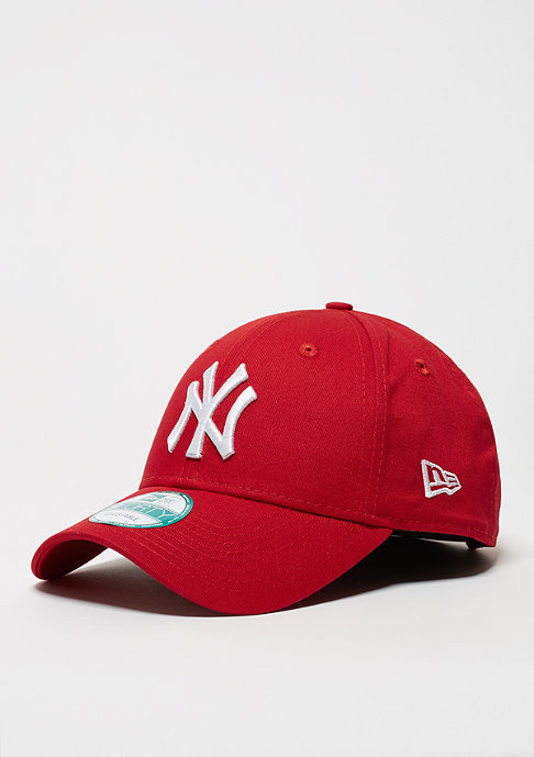 New Era Baseball-Cap 9Forty League Basic MLB New York Yankees scarlet/white