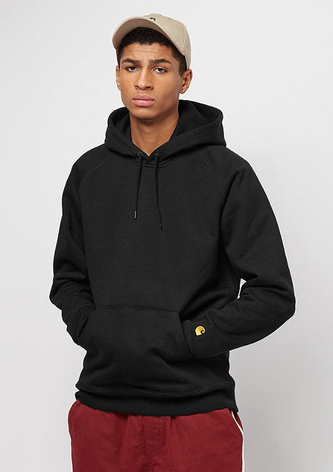 Carhartt WIP Hooded-Sweatshirt Chase black/gold