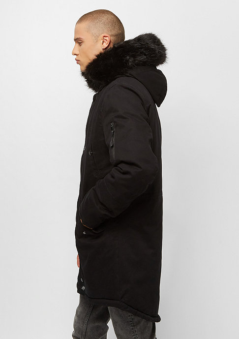 Sixth June Parka With Fur black/black