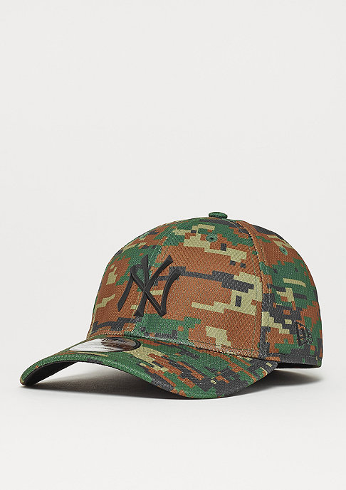 New Era 39Thirty Rubber Prime MLB New York Yankees woodland camo