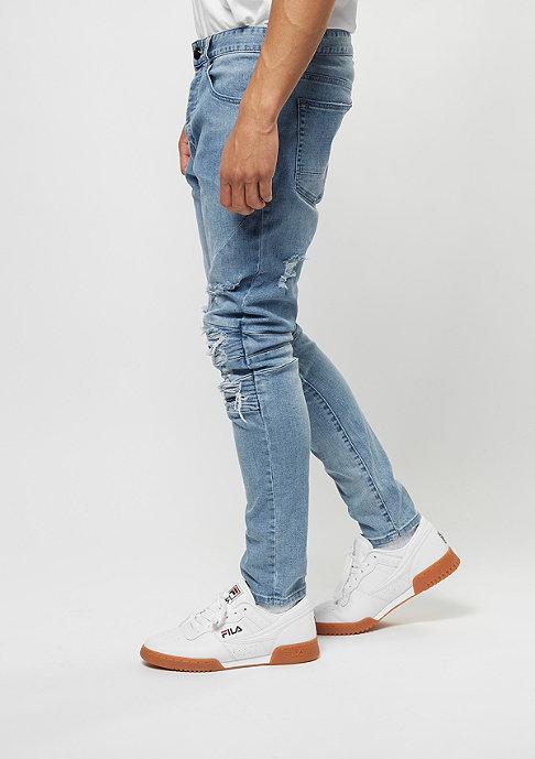 Cayler & Sons Jeans-Hose Paneled Inside Biker light blue distressed