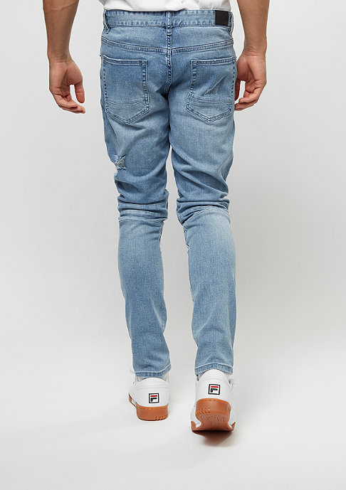 Cayler & Sons Jeans-Hose Paneled Inside Biker light blue distressed