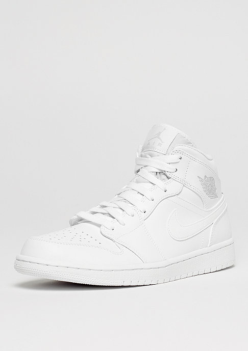 JORDAN Air Jordan 1 Mid white/pure platinum/white