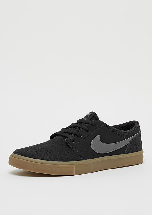 NIKE SB Solarsoft Portmore II black/dark grey/gum light brown