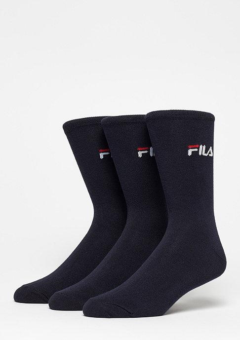 Fila FILA Unisex Street Socks 3-Pack F9630 navy