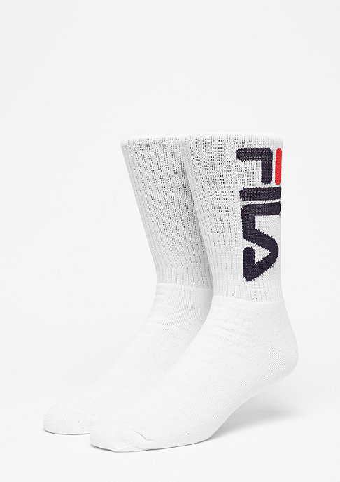 Fila Unisex Tennis Socks 2-Pair F9598 white