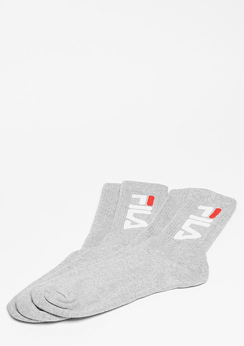 Fila Unisex Tennis Socks 2-Pair F9598 grey