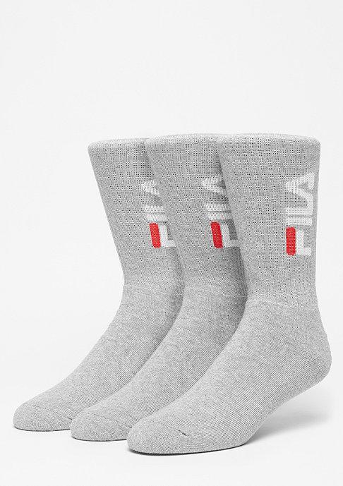 Fila Unisex Tennis Socks 3-Pair F9599 grey