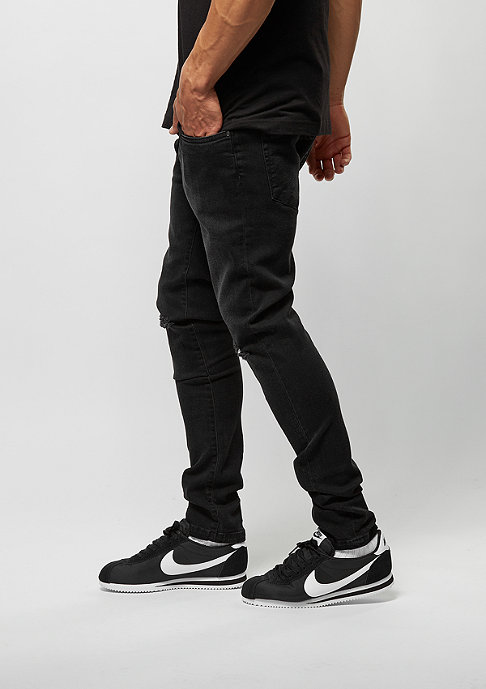 Urban Classics Slim Fit Knee Cut Denim black washed