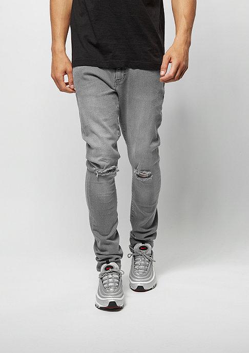Urban Classics Slim Fit Knee Cut Denim grey