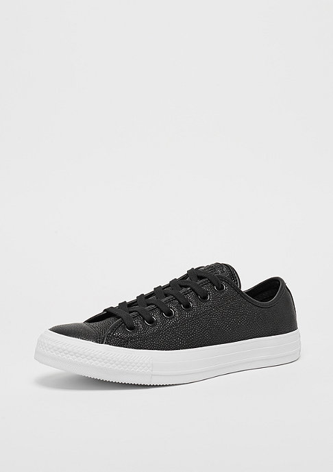 Converse Chuck Taylor All Star Pebbled Leather Ox black/black/white