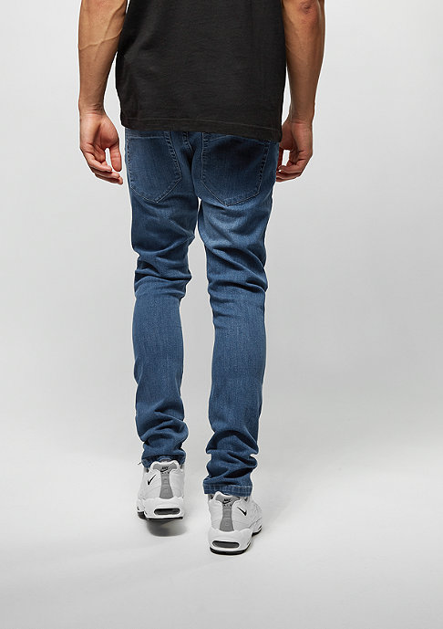 Urban Classics Slim Fit Knee Cut Denim blue washed