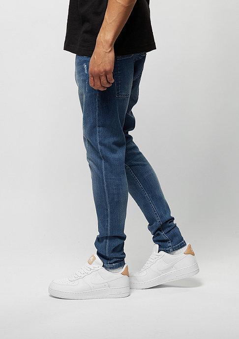 Urban Classics Skinny Ripped Stretch Denim blue washed
